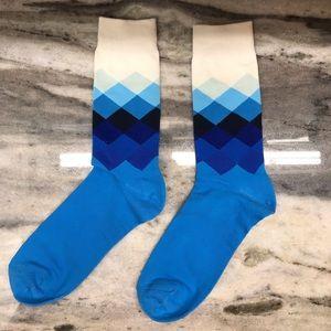 Blue Abstract Pattern Socks